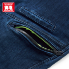 左カーゴポケットに止水ファスナーを使用。ファスナー内側は蛍光イエローのワンポイント